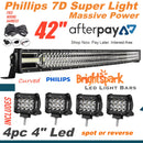 "42"" 7D.  Curved Led Light Bar Combo + 4"" - BrightSparkLedCo"