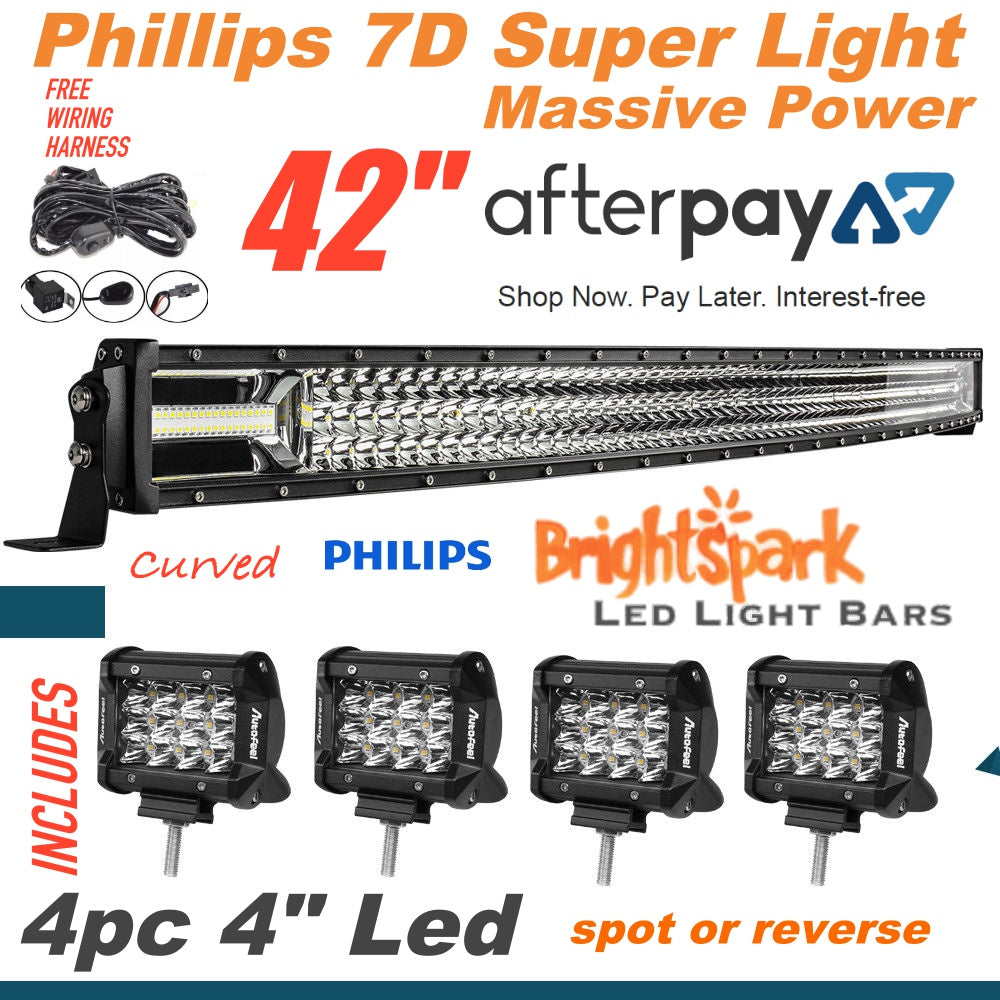 42 7d Curved Led Light Bar Combo 4 Emergency Lighting Wiring Diagram Free About Brightsparkledco