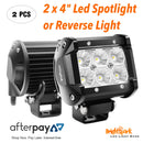 "2 x 4"" 27 Watt Round Led Spotlights pair,Reverse Lights - BrightSparkLedCo"