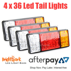 4 x 36 Led rear trailer caravan Ute, 12v truck lights, - BrightSparkLedCo