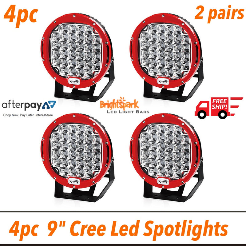"4 x  9"" Cree Led Spotlight,2 pairs,4 lights - BrightSparkLedCo"
