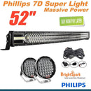 "PHILLIPS 52"" led Bar + 9"" Cree Led Spotlights +WIRE"