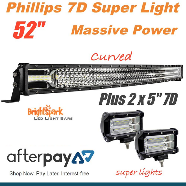"52"" 7D. Curved Led Light Bar + 5"""