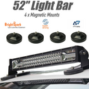 "52"" 7D  Led Light Bar + 4 x Magnetic Roof Mounts"