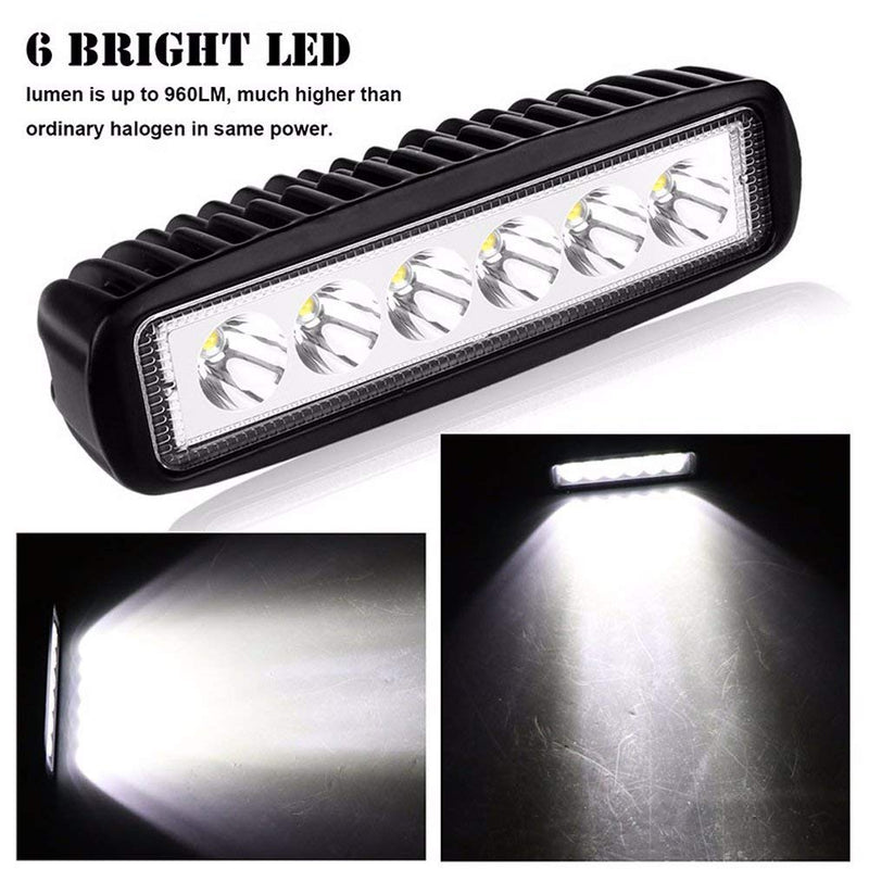 "10PC  6"" Led Work Light,Or reverse Light - BrightSparkLedCo"