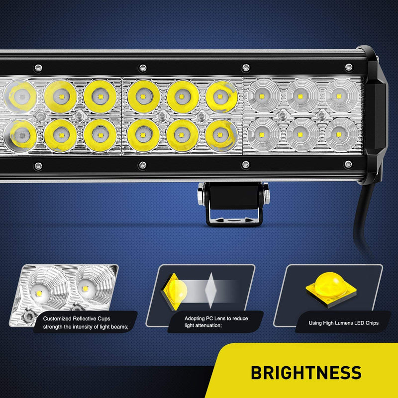 "20"" 210 WATT Cree Led Light Bar and wiring harness - BrightSparkLedCo"