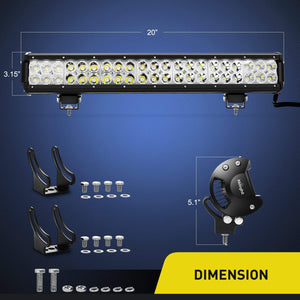 "23"" 228 WATT Cree Led Light Bar - BrightSparkLedCo"
