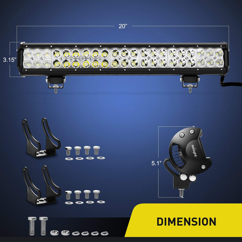 "6 x 20"" Cree Led Light Bars And Mounts. - BrightSparkLedCo"
