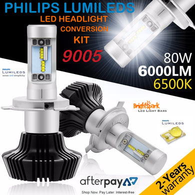 HB3 9005 Philips Diamond Led Headlight, Fanless,Zes Lumiled Chip - BrightSparkLedCo