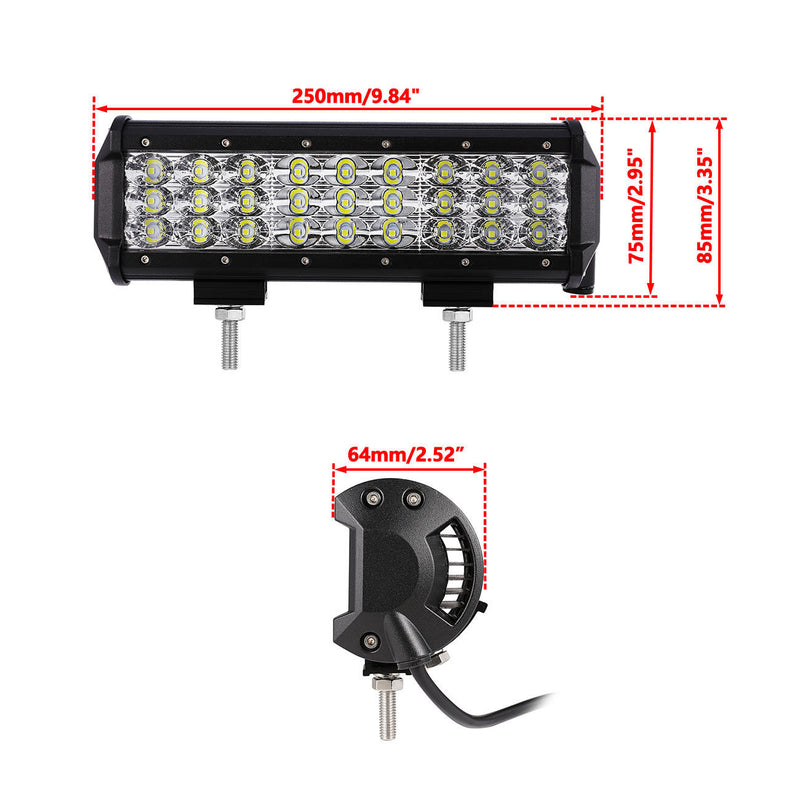 "2 x 9"" Cree Led Light Bar - BrightSparkLedCo"