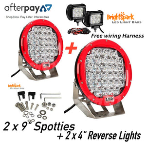 Amazing 9 Cree Led Spotlights 2 X 4 Led Light Bars Reverse Lights Free Wi Wiring 101 Archstreekradiomeanderfmnl