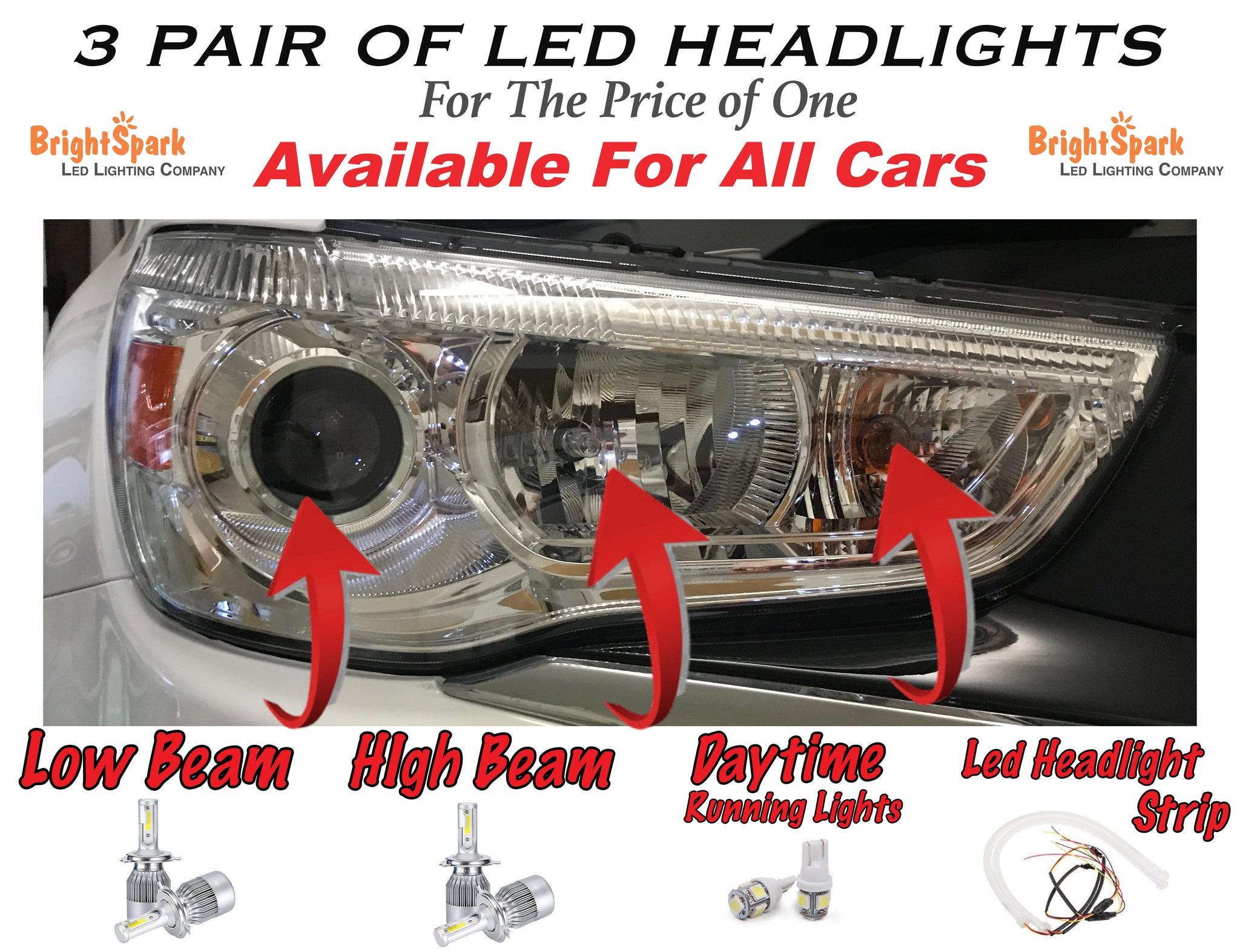 FORD FALCON OSRAM LED HEADLIGHT CONVERSION KIT