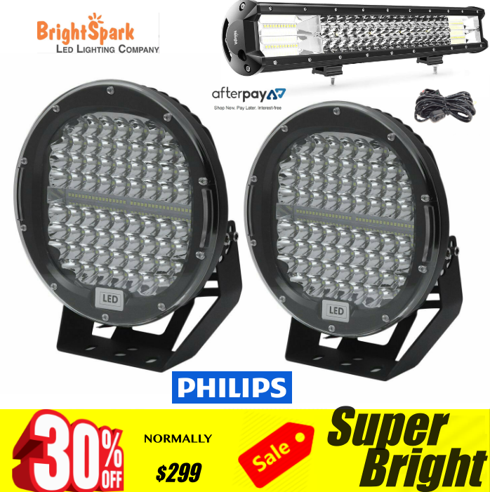 "9"" PAIR Cree Led Spotlight,1LUX@1680,20"""