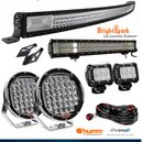 "52"" led Bar + 9"" Cree Led Spotlights+Windshield"