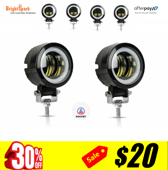 "4"" 40 Watt super Rocket Spotlights,Reverse Lights"