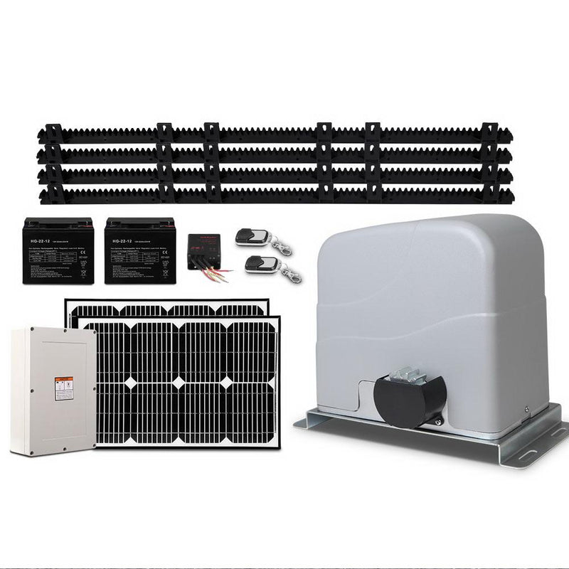 Slide Fence Gate Solar Power Opener, Remote Control