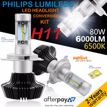 H11 Philips Diamond Led Headlight, Fanless,Zes Lumiled Chip - BrightSparkLedCo
