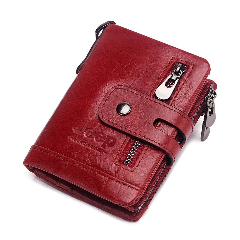 Luxury Designer Men Wallet Genuine Leather Bifold Short Wallets Male Hasp Vintage Purse Coin Pouch Multi-functional Cards Pocket