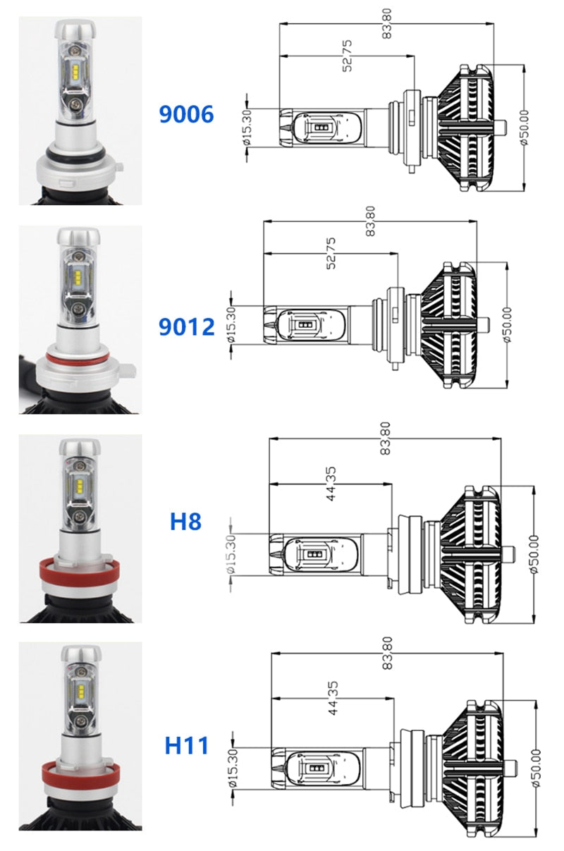H7 Philips Diamond Led Headlight Fanlesszes Lumiled Chip Lighthouse Fan Wiring Diagram Brightsparkledco