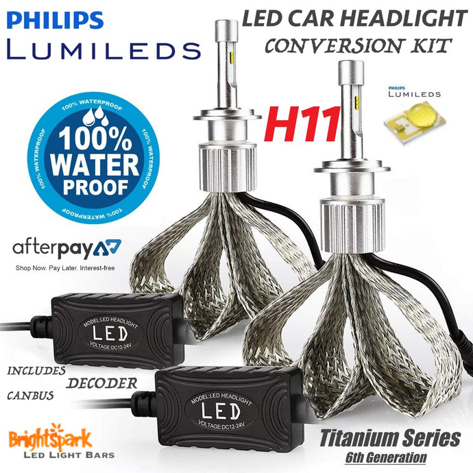 H11 Philips Titanium Led Headlight, 6th Generation - BrightSparkLedCo