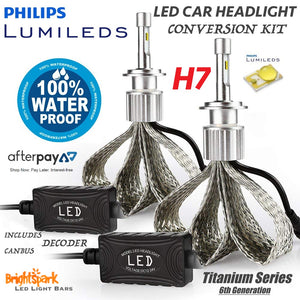 H7 Philips Titanium Led Headlight, 6th Generation - BrightSparkLedCo