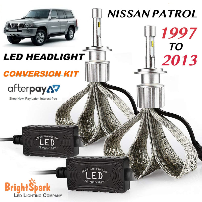 NISSAN PATROL Philips Titanium Led Headlight, Conversion Kit 1997-2013 - BrightSparkLedCo