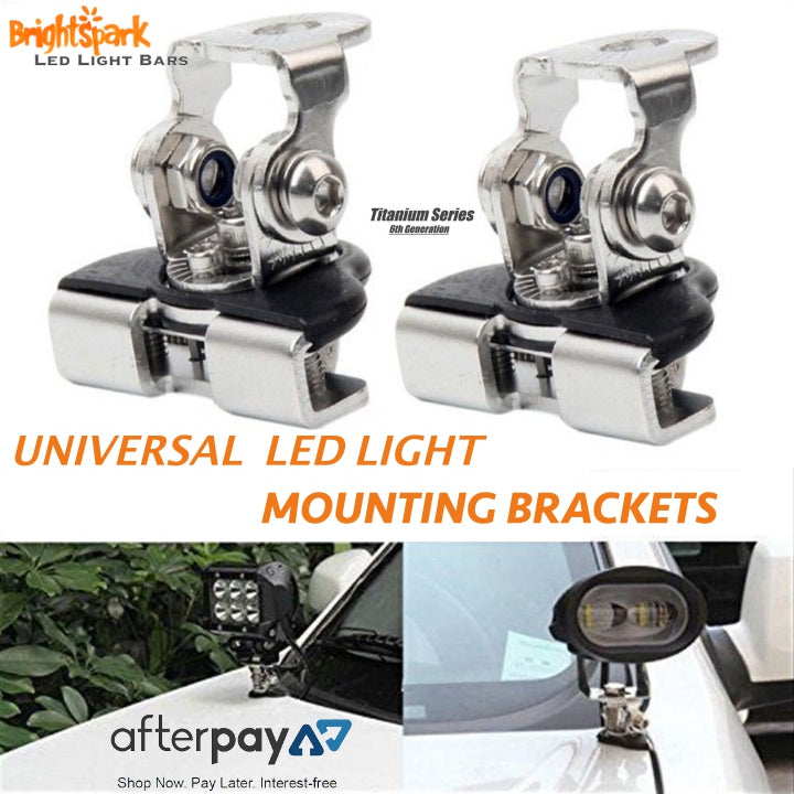 Amazing Led Light Bar universal mounting brackets - BrightSparkLedCo