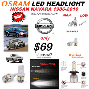 NISSAN NAVARA 1986-2010 LED HEADLIGHT CONVERSION KIT