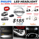 NISSAN PATHFINDER PHILIPS LED HEADLIGHT CONVERSION KIT ALL MODELS