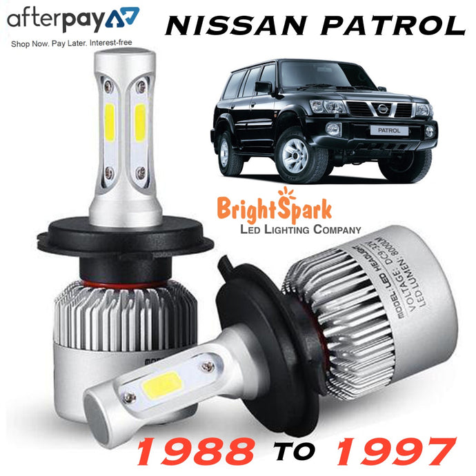 NISSAN PATROL Led Headlight, Conversion Kit 1988-1997 - BrightSparkLedCo