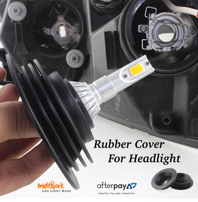 2x Car LED Headlight Rubber Sealing Dust Covers Cap for H4 H7 H8 H11 9005 Bulb - BrightSparkLedCo