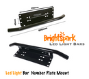 "20"" 210 WATT Cree Led Light Bar & Number Plate Bracket,Frame,wire harness - BrightSparkLedCo"