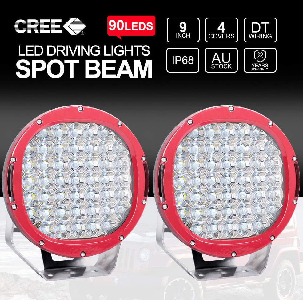 Awesome 9 Cree Led Spotlights 2 X 4 Led Light Bars Reverse Lights Free Wi Wiring 101 Archstreekradiomeanderfmnl