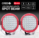 "9"" Cree Led Spotlights & 2 x 4"" Led Light Bars,reverse Lights, Free wiring harness - BrightSparkLedCo"