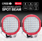 "9"" pair Cree Led Spotlights & 20"" cree led light bar, Free wiring harness - BrightSparkLedCo"