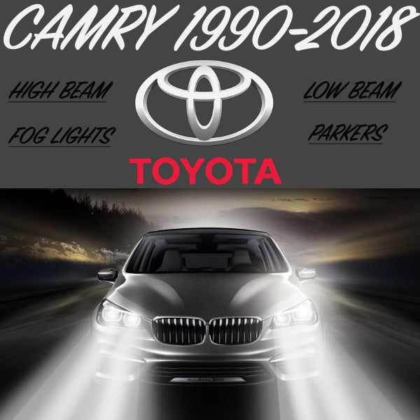 EVERY FRONT LIGHT 1990-2018 CAMRY Led Headlight Conversion Kit - BrightSparkLedCo