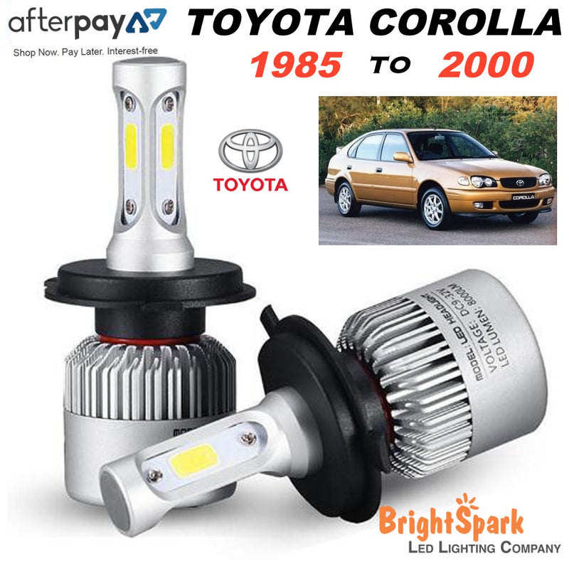 Toyota Corolla  Led Headlight, Conversion Kit 1985-2000 - BrightSparkLedCo
