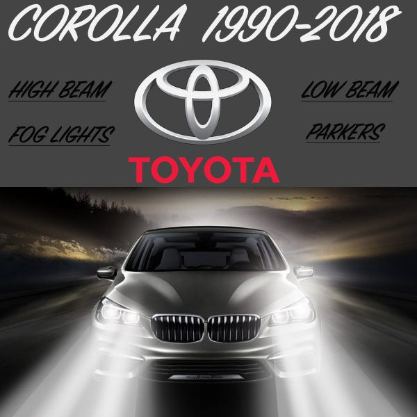 EVERY FRONT LIGHT 1990-2018 COROLLA Led Headlight Conversion Kit - BrightSparkLedCo