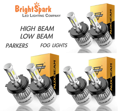3 PAIR Osram Led Headlight High & Lo Beam