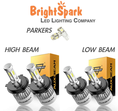 2 PAIR Osram Led Headlight High & Lo Beam