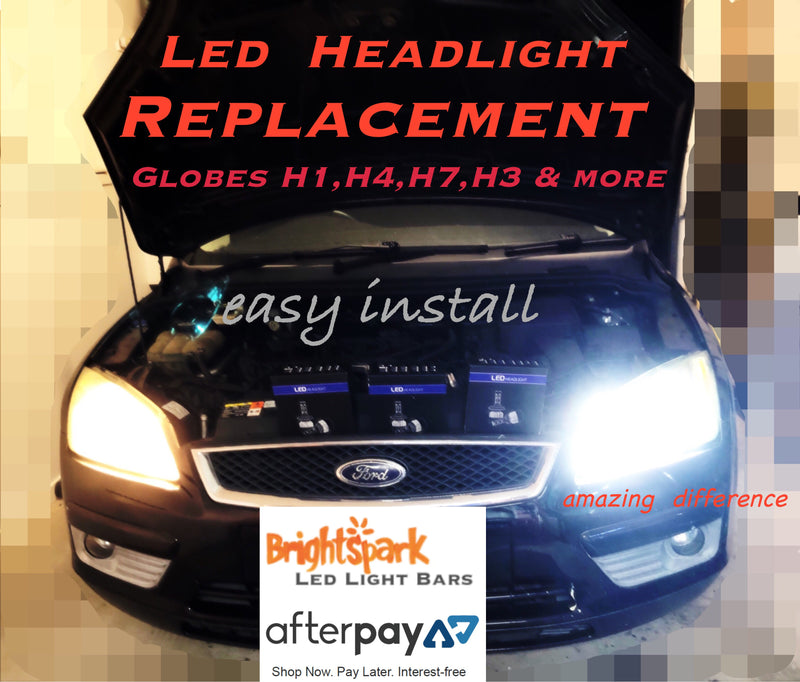Led Headlight Conversion Kit ALL CARS 1985-2006 - BrightSparkLedCo