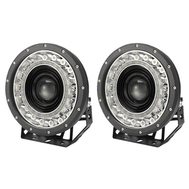 Pair 9 inch CREE LED Driving Lights Spotlights 1lux@1850