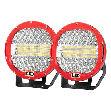 Pair 9 inch CREE LED Driving Spotlights 1Lux @980m
