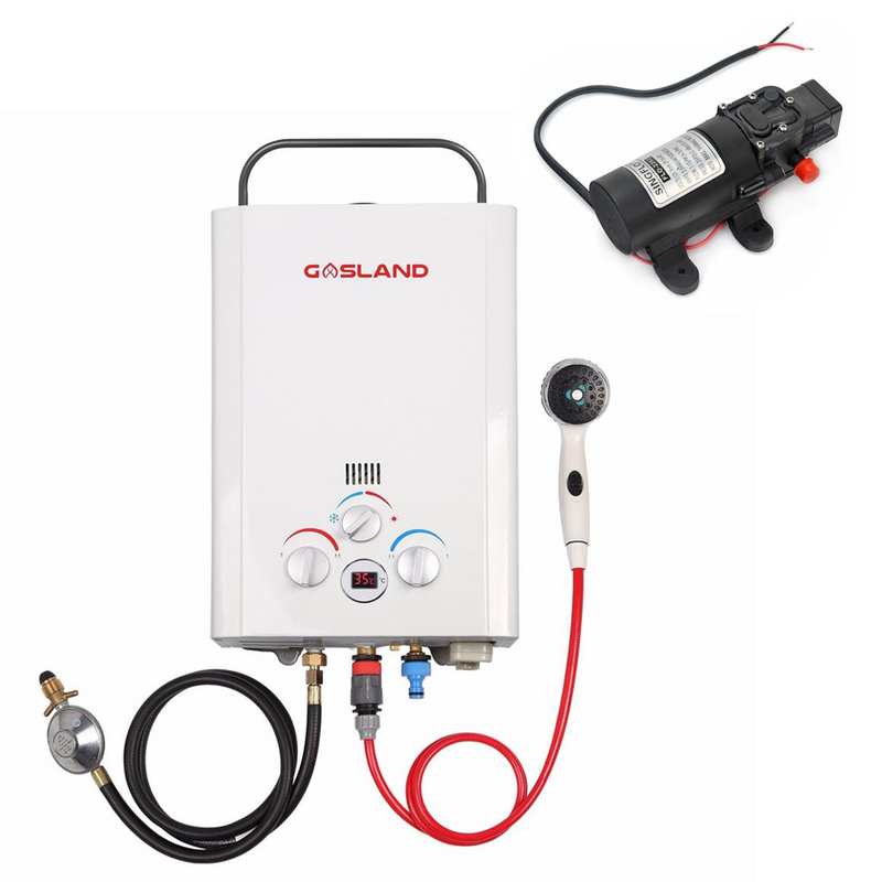 PORTABLE GAS HOT WATER HEATER SYSTEM WITH PUMP
