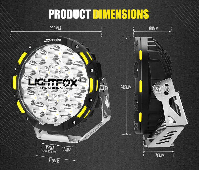 "Pair 9""CREE LED Driving Spotlights 1lux@1.15KM"
