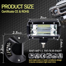 "42"" 7D. 1350WATT Curved Led Light Bar  2 x 5"" super Led lights - BrightSparkLedCo"