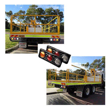 2x 63 Led rear Truck trailer caravan Ute, 12v truck tail lights - BrightSparkLedCo