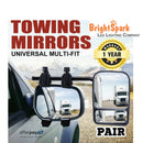 2 x towing mirrors pair heavy duty multi fit