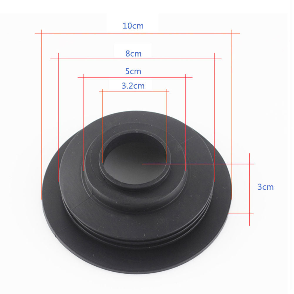 2x Car LED Headlight Rubber Sealing Dust Covers Cap for H4