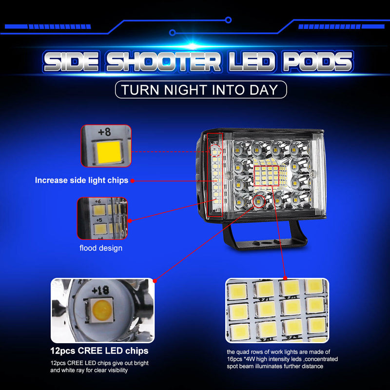 "4"" 175 Watt super  Led Spotlights Reverse Lights"
